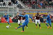 18th March 2018, Stadio Olimpico di Torino, Turin, Italy; Serie A football, Torino versus Fiorentina; Cyril Thereau shoots and scores the penalty in the 94th min for 1-2 win for Fiorentina