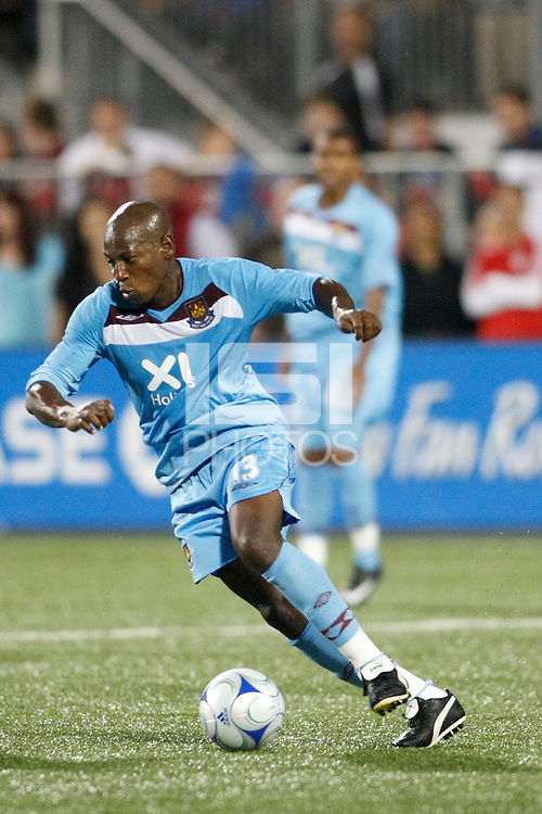West Ham United forward Luis Boa Morte (13). The MLS All-Stars defeated West Ham United 3-2 during the MLS All-Star Game at BMO Field in Toronto, Ontario, Canada, on July 24, 2008.