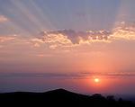sunset over Loess Hills, Loess Hills Wildlife Area, Monona County, Iowa