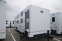 Sleeper units for the mutual assistance crew for Hurricane Irma at the Daytona International Speedway staging site Daytona Beach, Fla. on September 10, 2017.