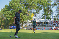 Jordan Spieth (USA) steps off 18 after sinking a long putt from the fringe during round 4 of the World Golf Championships, Mexico, Club De Golf Chapultepec, Mexico City, Mexico. 3/4/2018.<br /> Picture: Golffile | Ken Murray<br /> <br /> <br /> All photo usage must carry mandatory copyright credit (&copy; Golffile | Ken Murray)