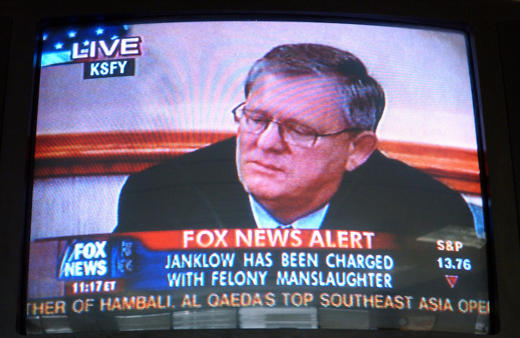 Janklow says he is sorry for killing the motorcyclist while speeding and runing a stop sign.......
