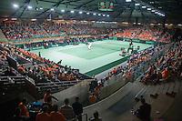 08-05-10, Tennis, Zoetermeer, Daviscup Nederland-Italie, Dubbles Robin Haase and Igor Sijsling  vs Simone Bolelli and Potito Starace overall vieuw of Silverdome