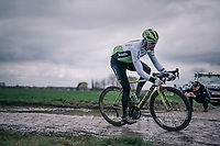 Edvald Boasson Hagen (NOR/Dimension Data)<br /> <br /> parcours recon of the 116th Paris-Roubaix 2018, 3 days prior to the race