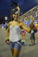 RIO DE JANEIRO - RJ - DIA 11 DE FEVEREIRO DE 2012.<br /> Na noite de s&aacute;bado (11) ensaio t&eacute;cnico da escola de samba Portela, na Marques de Sapuca&iacute;, situada no centro da cidade do Rio de Janeiro - RJ, no samb&oacute;dromo.<br /> A rainha,  atriz Sheron Menezes FOTO: RONALDO BRAND&Atilde;O/NEWSFREE