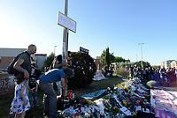 Roma, 13 Maggio 2017<br /> Una targa commemorativa<br /> Corteo a Centocelle per Francesca, Angelica e Elisabeth, le tre sorelle Rom uccise nel rogo del camper dove vivevano