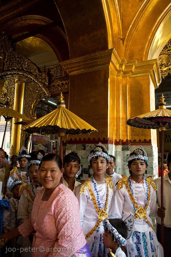 celebrations in Mahamuni pagoda , Mandalay, Myanmar, 2011