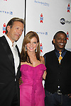 All My Children Walt Willey & Bobbie Eakes - hosts pose with Darnell Williams as ABC Daytime Salutes Broadway Cares/Equity Fights Aids - The Grand Finale Celebration on March 13, 2011 with a musical show at Town Hall, New York City, New York followed by an after party at the New York Marriott Marquis. (Photo by Sue Coflin/Max Photos)