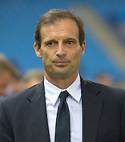 MADRID - ESPAÑA - 01-10-2014: Massimiliano Allegri, tecnico de Juventus de Italia durante partido del la UEFA Liga de Campeones, Atletico de Madrid  y Juventus en el estadio Vicente Calderon de la ciudad de Madrid, España. / Massimiliano Allegri, coach of Juventus of Italy, during a match between Atletico de Madrid and Juventus for the UEFA Champions League in the Vicente Calderon stadium in Madrid, Spain  Photo: Asnerp / Patricio Realpe / VizzorImage.