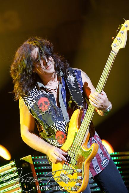 Scorpions perform at Mohegan Sun Arena, July 9, 2012.