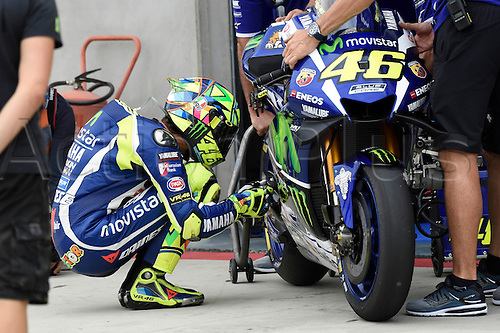 23.09.2016. Motorland Aragon, Alcaniz, Spain. MotoGP Grand Prix of Aragon, free Practice. Valentino Rossi (Movistar Yamaha) during the free practice sessions.