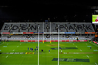 The Blues inspect the pitch before the 2017 DHL Lions Series rugby union match between the Blues and British & Irish Lions at Eden Park in Auckland, New Zealand on Wednesday, 7 June 2017. Photo: Dave Lintott / lintottphoto.co.nz