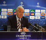 Walter Smith holding court at the Rangers Champions League press conference at Ibrox