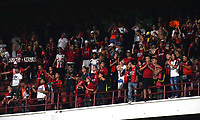 CÚCUTA- COLOMBIA, 26-02-2019:Hinchas del Cucuta Deportivo.Acción de juego entre los equipos Cucuta Deportivo y el Atletico Huila durante partido por la fecha 7 de la Liga Águila I  2019 jugado en el estadio General Santander de la ciudad de Cúcuta . /Fans of Cucuta Deportivo. Action game between Cucuta Deportivo and Atletico Huila during the match for the date 7 of the Liga Aguila I 2019 played at the General Santander  stadium in Cucuta  city. Photo: VizzorImage / Manuel Hernández  / Contribuidor