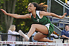Ariela Kovary of Carle Place races to victory in the Division 2 girls' 100 meter hurdles event during Day Two of the Nassau County individual championships and state qualifiers at Cold Spring Harbor High School on Friday, June 5, 2015.<br /> <br /> James Escher