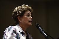 """SÃO PAULO, SP, 09.12.2016 - CONFERÊNCIA-SP - A ex-presidente Dilma Rousseff durante a conferência """"A luta politica na América Latina de Hoje"""", na Casa de Portugal, na noite desta sexta-feira, 09. (Foto: Adriana Spaca/Brazil Photo Press/Folhapress) SÃO PAULO, SP, 09.12.2016 - CONFERÊNCIA-SP - A ex-presidente Dilma Rousseff durante a conferência """"A luta politica na América Latina de Hoje"""", na Casa de Portugal, na noite desta sexta-feira, 09. (Foto: Adriana Spaca/Brazil Photo Press)"""