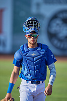 Marco Hernandez (13) of the Ogden Raptors before the game against the Orem Owlz at Lindquist Field on July 27, 2019 in Ogden, Utah. The Raptors defeated the Owlz 14-1. (Stephen Smith/Four Seam Images)