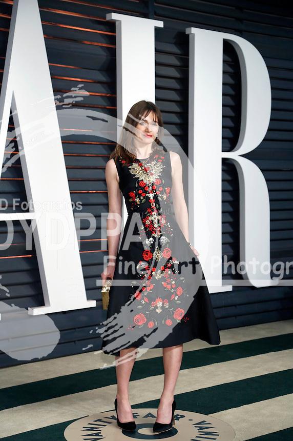Emily Mortimer attending the Vanity Fair Oscar Party 2015 on February 22, 2015 in Beverly Hills, California.