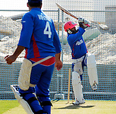 Aghanistan wicket-keeper Mohammad Shazad in the nets at Dubai Global Academy in preparation for the Intercontinental Cup final match, starting tomorrow at Dubai Sports City Stadium - picture by Donald MacLeod 01.12.10 - mobile 07702 319 738 - clanmacleod@btinternet.com - www.donald-macleod.com