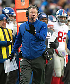 New York Giants head coach Pat Shurmur gestures towards an official in the third quarter against the Washington Redskins at FedEx Field in Landover, Maryland on Sunday, December 9, 2018.  The Giants won the game 40 - 16.<br /> Credit: Ron Sachs / CNP<br /> (RESTRICTION: NO New York or New Jersey Newspapers or newspapers within a 75 mile radius of New York City)