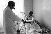 Asmara, Eritrea.November 2002.Birhan Aim Hospital  (Light to the Eye Hospital)..Praise flows from patients who often never believed they would see again. The doctor and the hospital staff are often treated as if they are saints who have performed a miracle.