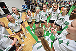 DENTON, TX - NOVEMBER 29:  - North Texas Mean Green Volleyball vs Tulsa Golden Hurricanes at the Olympic Village in Denton on November 29, 2018 in Denton, Texas. Rick Yeatts Photography/ Manny Flores