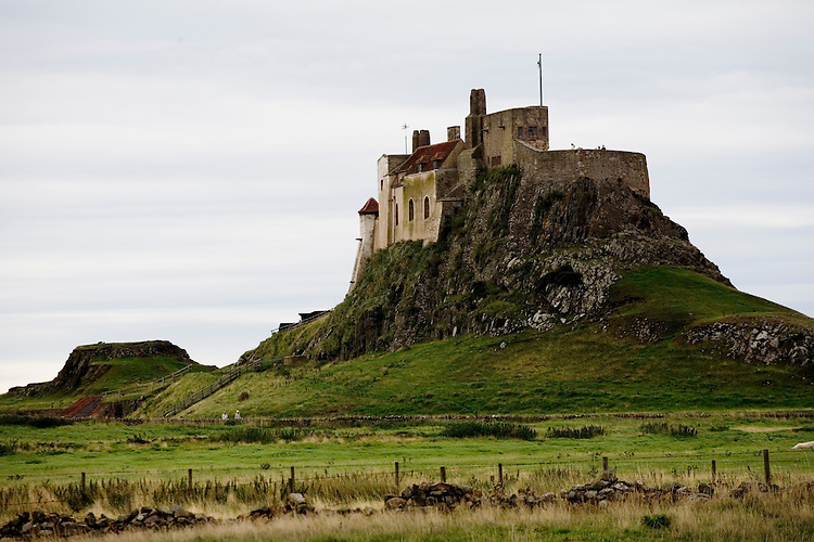 Castle at Holly Island, Northern England.  1200 years ago was Christianity's toehold on England.