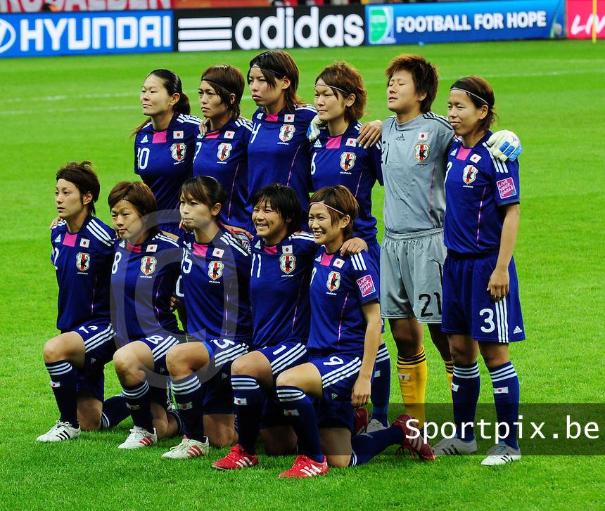 Fifa Women's World Cup Germany 2011 : Japan - USA  at Commerzbank Arena Frankfurt : ploegfoto Japan.foto DAVID CATRY / Vrouwenteam.be