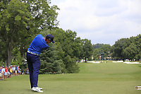 Rickie Fowler (USA) tees off the 3rd tee during Friday's Round 2 of the 2017 PGA Championship held at Quail Hollow Golf Club, Charlotte, North Carolina, USA. 11th August 2017.<br /> Picture: Eoin Clarke | Golffile<br /> <br /> <br /> All photos usage must carry mandatory copyright credit (&copy; Golffile | Eoin Clarke)