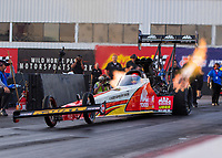 Feb 2, 2017; Chandler, AZ, USA; NHRA top fuel driver Doug Kalitta during Nitro Spring Training preseason testing at Wild Horse Pass Motorsports Park. Mandatory Credit: Mark J. Rebilas-USA TODAY Sports