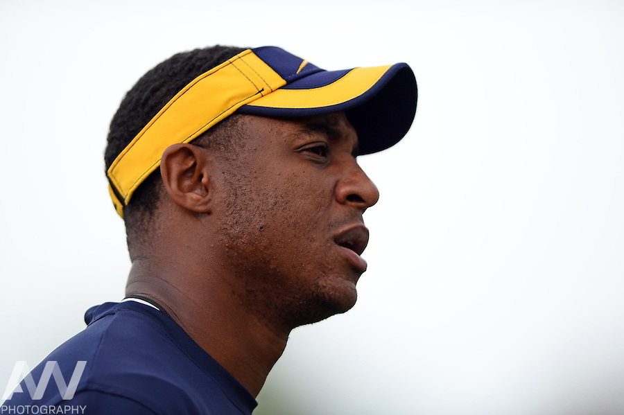 Aug 15, 2012; Toledo, OH, USA; Toledo Rockets cornerbacks coach D.K. McDonald during practice at the Glass Bowl. Mandatory Credit: Andrew Weber-US Presswire