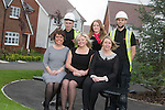 Redrow Homes<br /> Petra &amp; Nathan Foley, Beverley &amp; Beth Wookey and Louise &amp; Joseph Impey.<br /> 02.05.14<br /> &copy;Steve Pope-FOTOWALES