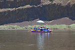 A rafting party floats the lower John Day River.
