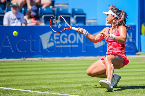 June 18th 2017, Edgbaston Priory Club; Tennis Tournament; Aegon Classic Birmingham; Sunday Qualifiers; Grace Min plays Camila Giorgi during qualification