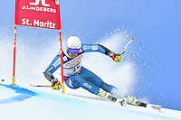 February 17, 2017: Bjoernar NETELAND (NOR) competing in the men's giant slalom event at the FIS Alpine World Ski Championships at St Moritz, Switzerland. Photo Sydney Low