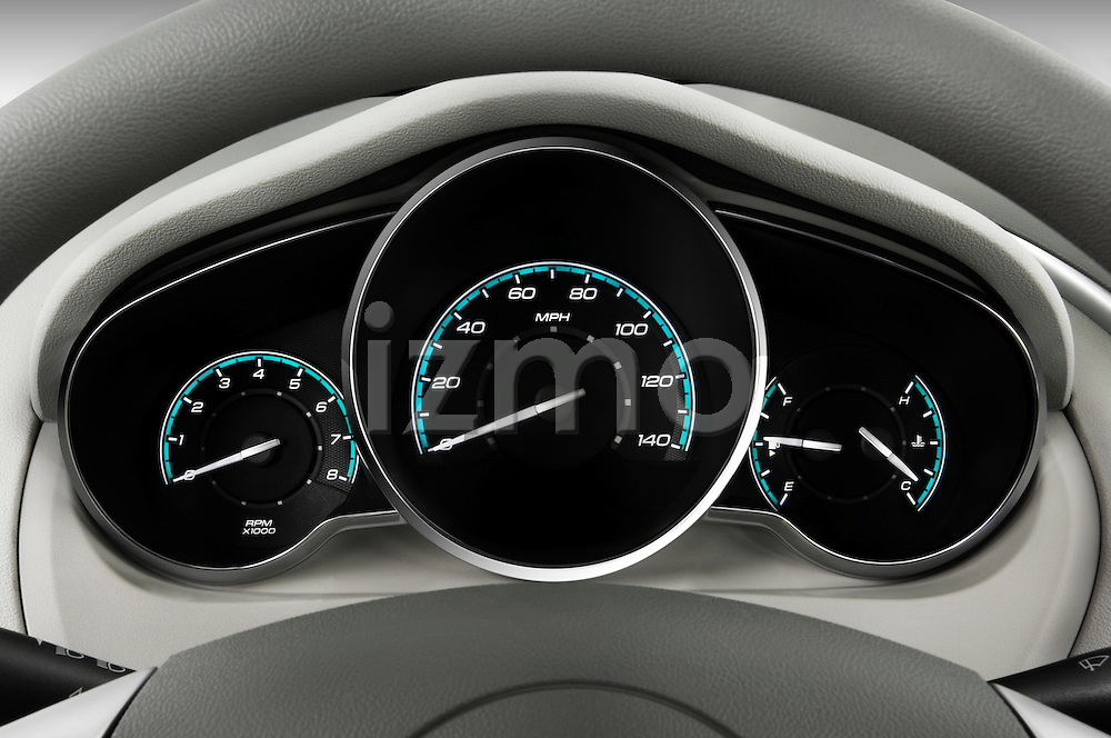 Instrument panel close up detail view of a 2008 Chevrolet Malibu Sedan