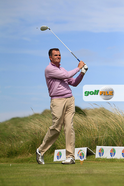 John McGinn (Laytown &amp; Bettystown) on the 10th tee during Round 4 of the Irish Amateur Close Championship at Seapoint Golf Club on Monday 9th June 2014.<br /> Picture:  Thos Caffrey / www.golffile.ie