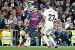 Real Madrid CF's Sergio Reguilon and FC Barcelona's Sergi Roberto during the King's Cup semifinals match. February 27,2019. (ALTERPHOTOS/Alconada)