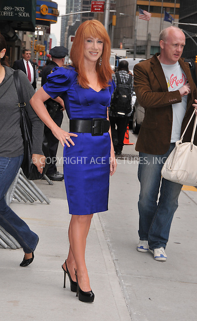 WWW.ACEPIXS.COM . . . . .  ....June 10 2009, New York City....Actress Kathy Griffin made an appearance at the 'Late Show with David Letterman' at the Ed Sullivan Theatre on June 10 2009 in New York City....Please byline: AJ Sokalner - ACEPIXS.COM..... *** ***..Ace Pictures, Inc:  ..tel: (212) 243 8787..e-mail: info@acepixs.com..web: http://www.acepixs.com