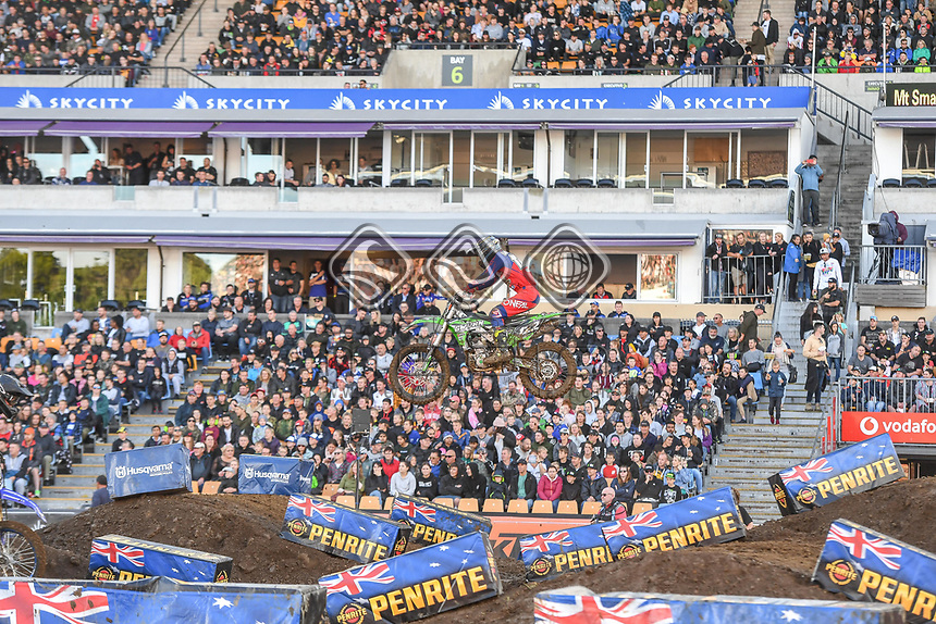 Ryan Gwynn (NZ)<br /> 2018 SX Open - Auckland / SX 2<br /> FIM Oceania Supercross Championships<br /> Mt Smart Stadium / Auckland NZ<br /> Saturday Nov 24th 2018<br /> &copy; Sport the library/ Jeff Crow / AME