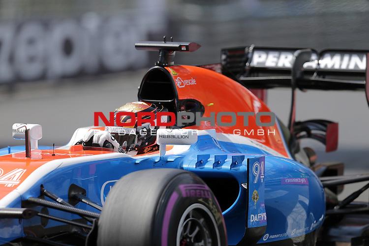 26.-29.05.2016, Circuit de Monaco, Monte Carlo, MCO, Gro&szlig;er Preis von Monaco, Monte Carlo, RACE 06,  im Bild<br /> Pascal Wehrlein (GER#94), Manor Racing MRT <br /> <br /> <br /> Foto &copy; nordphoto / Bratic