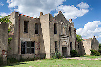 Old abandoned school building in Mosheim, TX