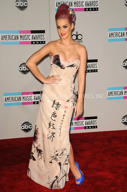 WWW.ACEPIXS.COM . . . . .  ....November 20 2011, LA....Katy Perry arriving at the 2011 American Music Awards at the Nokia Theater at L.A. Live on November 20, 2011 in Los Angeles, California. ....Please byline: PETER WEST - ACE PICTURES.... *** ***..Ace Pictures, Inc:  ..Philip Vaughan (212) 243-8787 or (646) 679 0430..e-mail: info@acepixs.com..web: http://www.acepixs.com