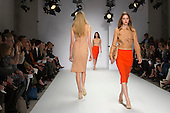 15 February 2014, London, England, UK. Models walk the runway at the Jasper Conran show during London Fashion Week AW14 at the Saatchi Gallery off King's Road, London. Photo credit: Bettina Strenske/LNP
