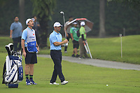 Paul Casey (Europe) on the 3rd fairway during the Saturday Foursomes of the Eurasia Cup at Glenmarie Golf and Country Club on the 13th January 2018.<br /> Picture:  Thos Caffrey / www.golffile.ie