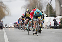 peloton chasing the leading group on the local rounds<br /> <br /> 69th Kuurne-Brussel-Kuurne 2017 (1.HC)