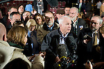 12 January 2008: US Senator and Republican Presidential candidate John McCain answers questions from the press at a town hall meeting in Warren, Michigan, USA.