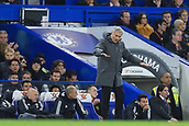 5th November 2017, Stamford Bridge, London, England; EPL Premier League football, Chelsea versus Manchester United; Manchester Utd Manager Jose Mourinho showing his frustration with his players