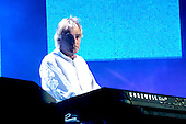 Pink Floyd - keyboardist Rick Wright - performing live on stage with the reunited line-up at the Live 8 concert in Hyde Park, London UK -  02 July 2005.  Photo credit: George Chin/IconicPix