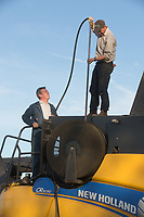 Blowing harvest dust from a combine <br /> Picture Tim Scrivener 07850 303986<br /> &hellip;.covering agriculture in the UK&hellip;.